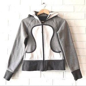 Lululemon Scuba hoodie dark and light grey